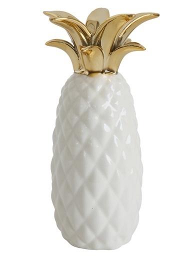 Warm Design Seramik Ananas Vazo Renkli
